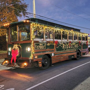 All ready for the annual Morganton Christmas Parade! Even though it looks a little different this year we are still excited to be a part of this holiday tradition!   #tistheseason #christmasparade #ridgelinetrolley #downtownmotown #morgantonnc #holidaytra