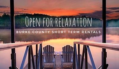 We are excited to announce that short term rentals are now available to rent again!  We invite you to come relax with us in Burke County. We have many cabins and airbnbs located in wide open spaces so you and your loved ones can still social distance but