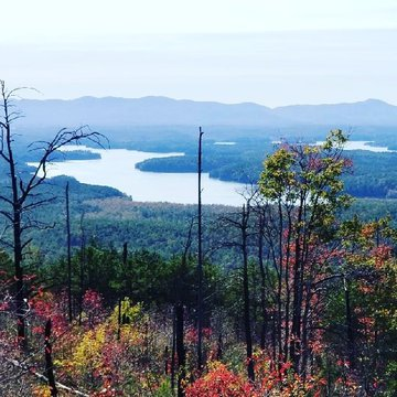 We have some great views! We love this look at Lake James from  Shortoff Mountain. The leaves are just starting to change around the lake and will probably be around for another few weeks. Come check it out!   #BurkeTreasures #BurkeOut