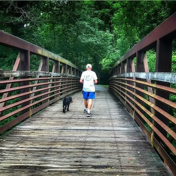 One of our favorite things to do in Burke County is go out to the Catawba River Greenway. Whether you are jogging with your furry friend, strolling on your own after work for some exercise, or training for your next big race the greenway has 4.4 miles of