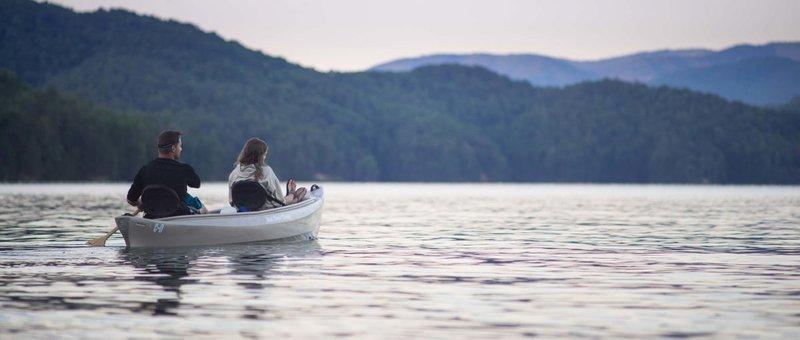 Couple Canoeing on Lake James at Sunset-crop(1,0.729,0.000,0.160,r4).jpg